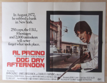 Dog Day Afternoon, Original UK Quad Poster, Al Pacino robs a Bank!! '75